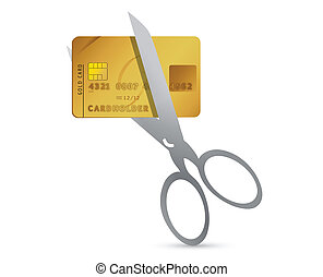 Credit card with scissors