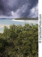 Stormy Sky over Whitehaven Beach, Australia - Stormy Sky...