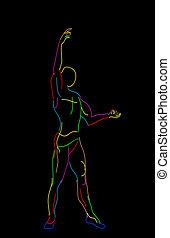Stylized ballet dancer