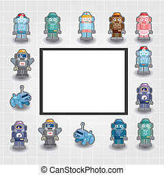 cartoon robot card