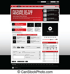 Web Design Website Element Template - A web design template...