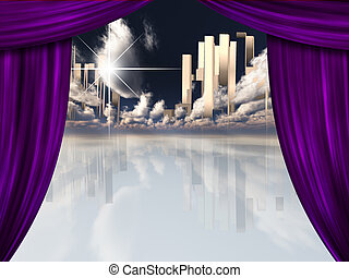 Heavenly City behind Curtains