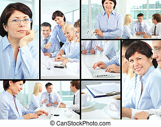 Business people - Collage of business people in different...