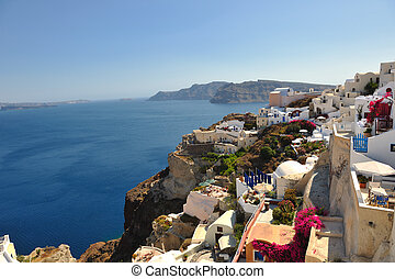 greece santorini - summer vacation on beautiful vulcanic...
