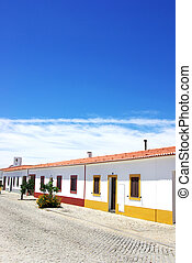 Street of Luz village, Alentejo,Portugal