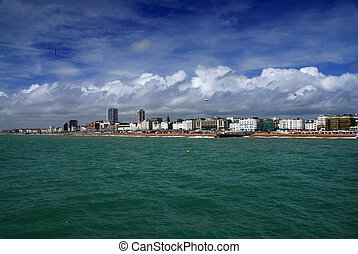 Brighton - British town of Brighton seen from the pier