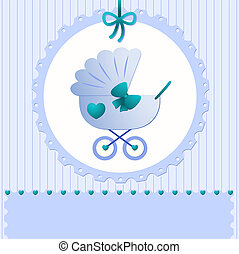 It's a boy - Vector background for the announcement of a...