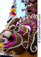 Balinese culture - Animal head decorated by Balinese people...