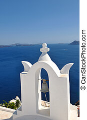 greece santorini - summer vacation on beautiful vulcanic...