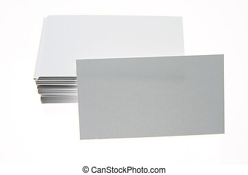 Blank business cards - Stack of blank white business cards...