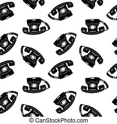 telephone retro seamless pattern, abstract texture; vector...