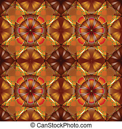 flowers seamless geometric pattern, abstract texture; vector...