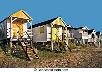 Beach huts in Old Hunstanton