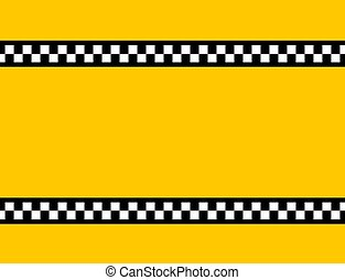 TAXI Background - Background of a yellow taxi cab without...