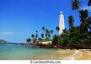 Dondra Head - Beautiful white lighthouse Dondra Head, the...