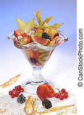 Fruit cup of southern fruits