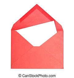Red Envelope - A red envelope with a blank page for your...