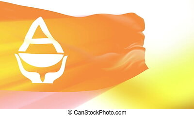 Flag of Antarctica - Flag of the Antarctica waving in the...