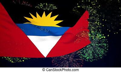 Flag of Antigua and Babuda - Flag of the Antigua and Babuda...
