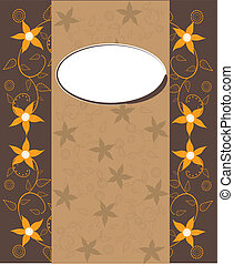 Vector frame and ornate pattern.