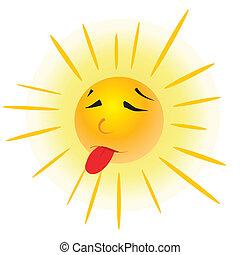 sun face.
