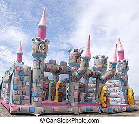 Bouncy Castle - A Bouncy Castle under a blue sky