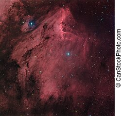 The Pelican Nebula, IC 5070 in HaRGB
