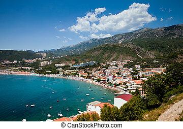 Panorama city beach - The panorama view of city beach in...
