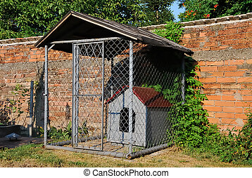 dog house - home made dog house in house yard for home dog
