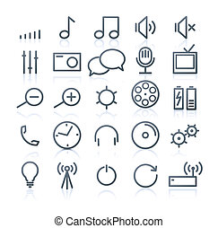 multimedia Icons - set of original multimedia Icons