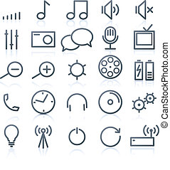 multimedia Icons - Vector set of original multimedia Icons