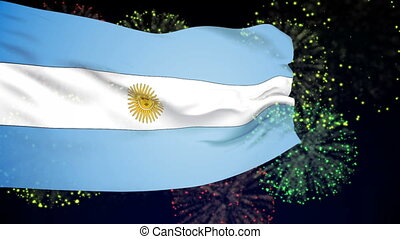 Flag of Argentina - Flag of the Argentina waving in the...