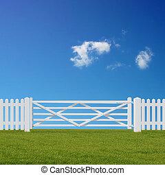 branca, portão
