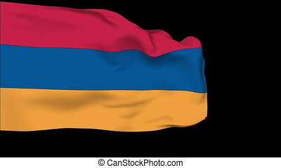 Flag of Armenia - Flag of the Armenia waving in the wind...