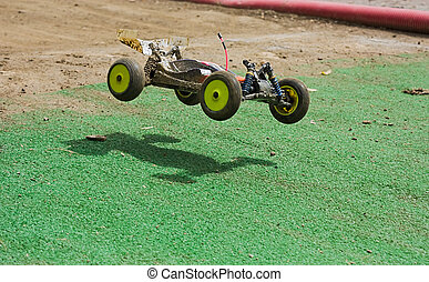 radio controlled buggy - a rc model car 1/10 buggy 4 wd -...