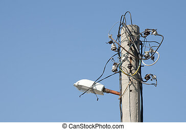 Cableado, viejo, eléctrico