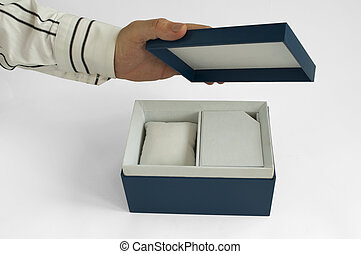 Gift box with house inside