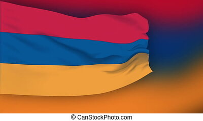 Flag of Armenia - Flag of the Armenia waving in the wind....