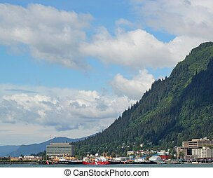 Juneau Alaska on a sunny summer day - View of Juneau Alaska...