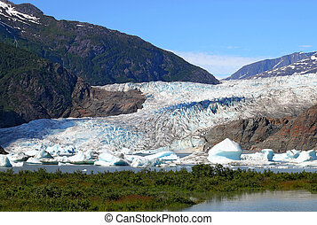 Mendenhall glacier in summer - Mendenhall glacier outside of...