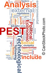 PEST analysis background concept - Background concept...