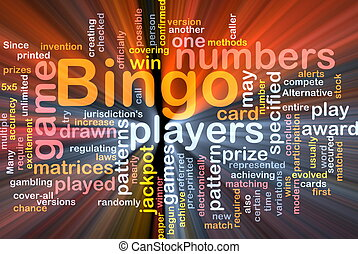Bingo game background concept glowing - Background concept...