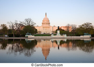Capitol Hill at sunset, Washington DC