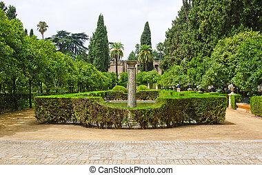 jardim, poetas, Alcazar, Palácio