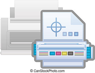 Printer Options - Laserjet Printer Cartridges Icon (part of...
