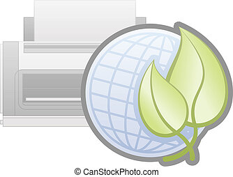 Printer Options - Eco Friendly Printer Icon part of the...