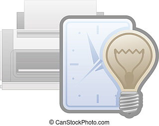 Printer Options - Printer Power Saver Management Icon (part...