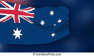 Flag of Australia - Flag of the Australia waving in the...