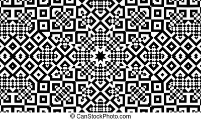 Kaleidoscopic Loop - Black and White Kaleidoscopic Loop.