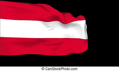 Flag of Austria - Flag of the Austria waving in the wind....